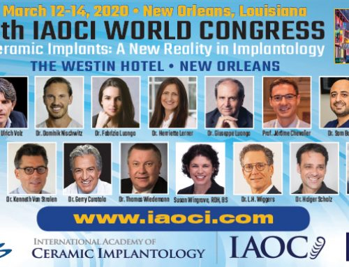 Next World Congress IAOCI 2020 and Dr Pascal Eppe's Lecture – March 12-14 2020