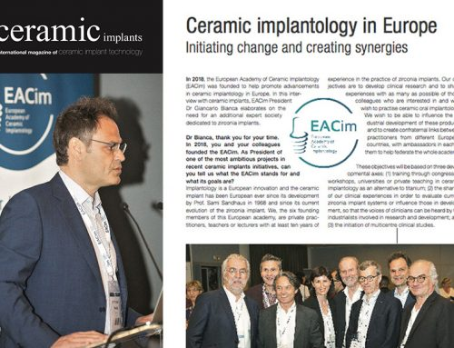 Interview of Dr Giancarlo Bianca, EACim president in Ceramic Implants magazine